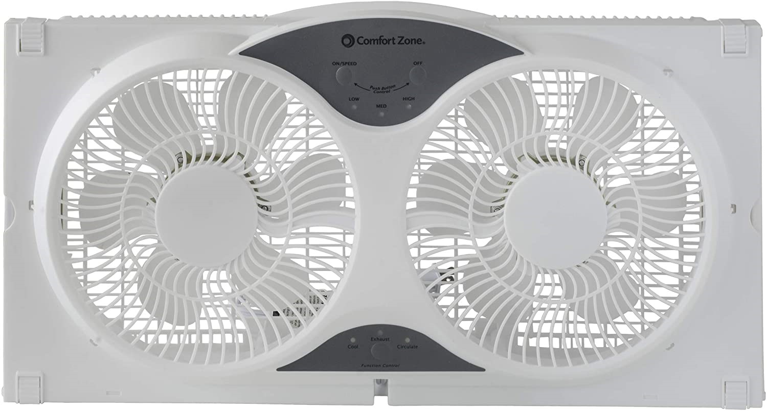 CCC Comfort Zone Reversible Twin Window Fan
