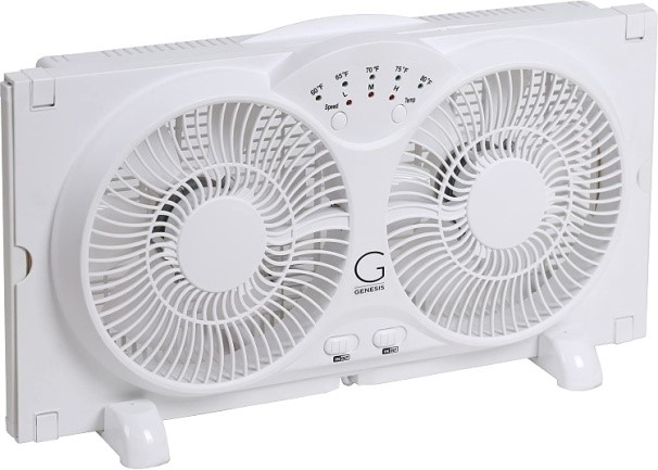 Genesis Twin 9-inch Window Fan