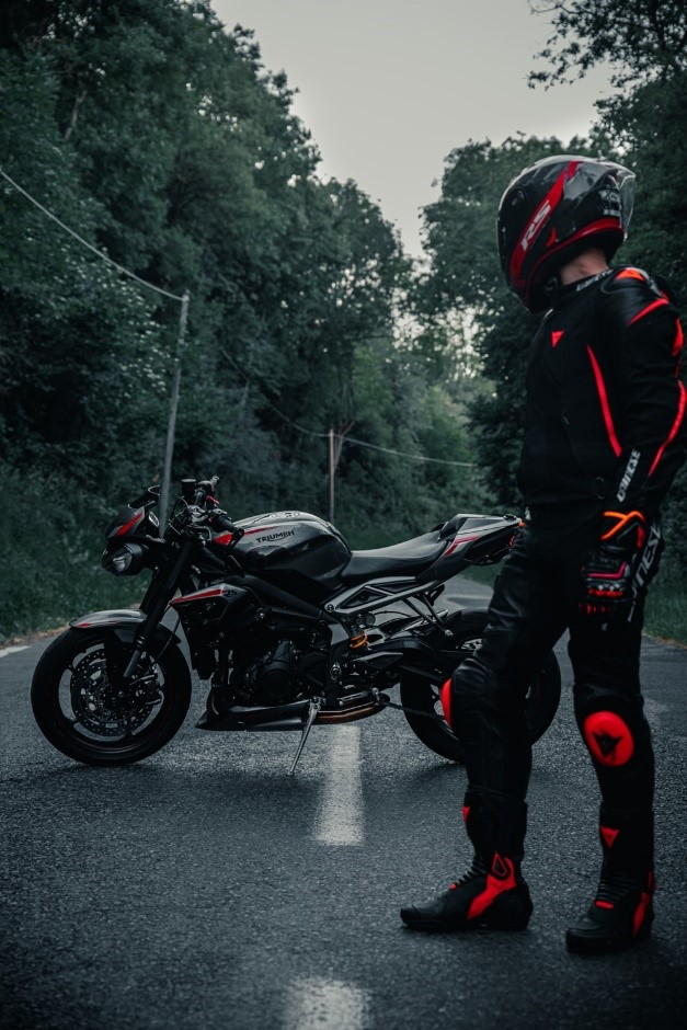 Biker with Motorcycle